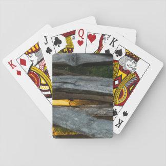 Aufgeteilte Schiene abstrakt Spielkarten