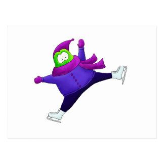 Aufgeteilter Sprungs-Skaten-Frosch Postkarten