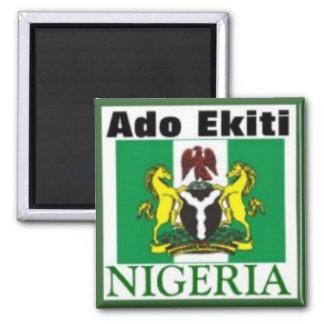 AUFHEBEN EKITI, NIGERIA (T - Shirt und usw.) Quadratischer Magnet