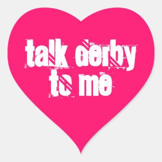 Aufkleber 20-Pack: Gespräch Derby zu mir Herz