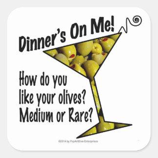 AUFKLEBER - Abendessen auf mir, Oliven? Mittlere