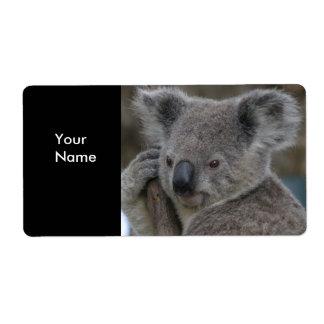 Aufkleber-Adressen-Aufkleber-Koala-Bären