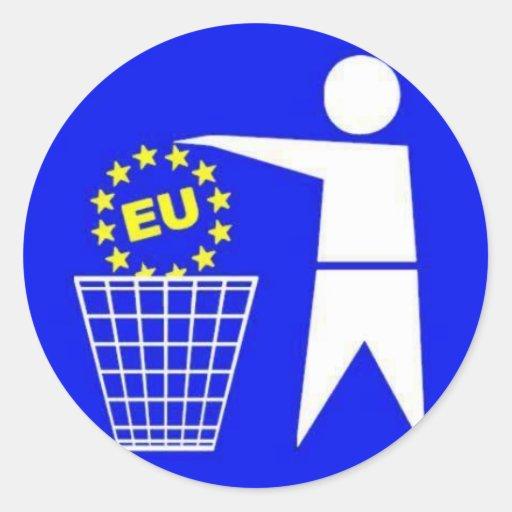 Aufkleber: Anti EU Protest