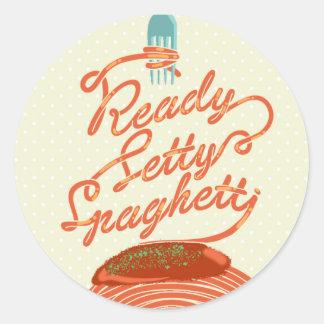 "Aufkleber ""bereiter Setty Spaghettis"""