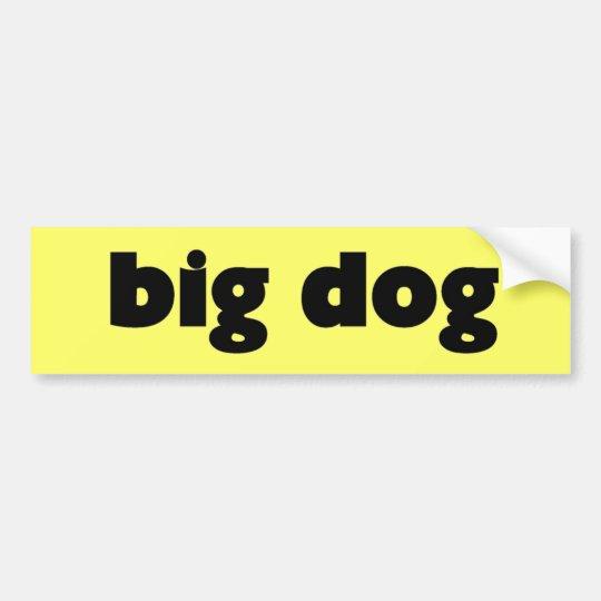 "Aufkleber ""big dog"" autoaufkleber"