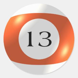 Aufkleber - Billard - Ball 13