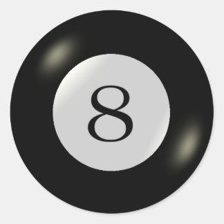 Aufkleber - Billard - Ball 8