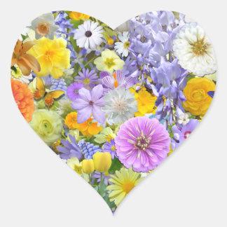 Aufkleber - Blumen und Schmetterlinge
