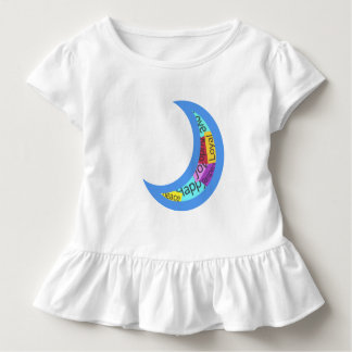 Aufkleber-Bomben-Mond-Baby-Spitze Kleinkind T-shirt