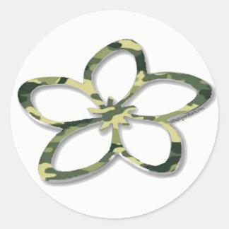 Aufkleber Camouflageplumeria-(Frangipani)