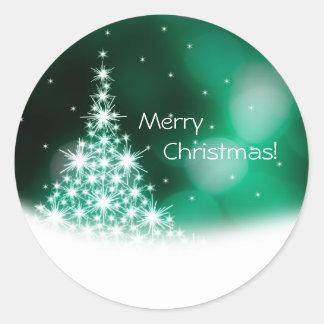 Aufkleber der frohen Weihnachten