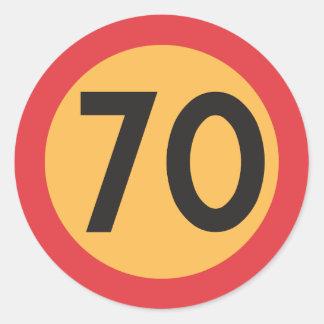 Aufkleber der Höchstgeschwindigkeits-siebzig