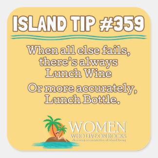 Aufkleber der Insel-Spitze-#359 (Gelb, Quadrat)