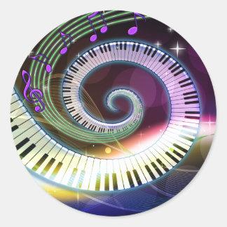 Aufkleber der Musik-1