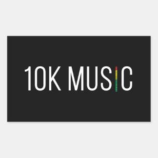 Aufkleber der Musik-10K