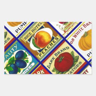 Aufkleber, die Vintage Dose Können-Aufkleber Küche Rechteckiger Aufkleber