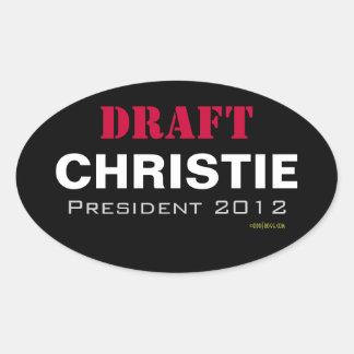 Aufkleber ENTWURF Chris-Christie Präsidenten-2012