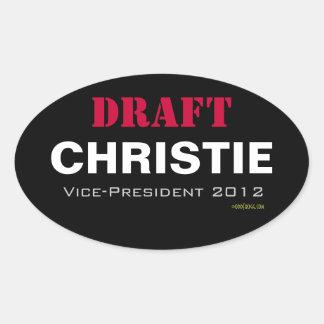 Aufkleber ENTWURF Christie Vizepräsidenten-2012 Ov