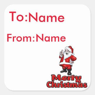 Aufkleber frohe Weihnacht-Sankt 2