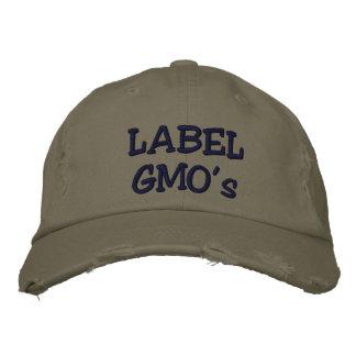 Aufkleber-GMOs Embroadered beunruhigter Hut Bestickte Mütze