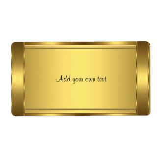 Aufkleber-Gold groß Versandetiketten
