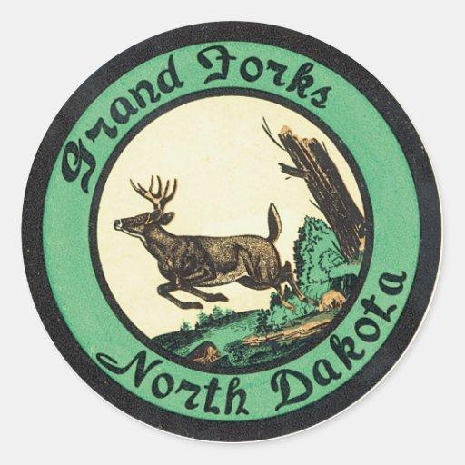 Aufkleber Grand Forks North Dakota