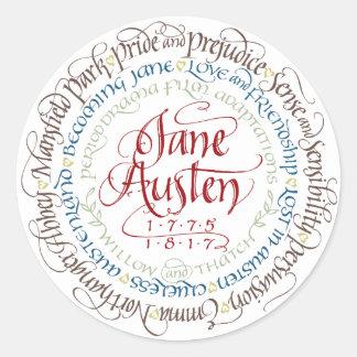 Aufkleber - Jane Austen-Zeitraum-Drama-Anpassungen
