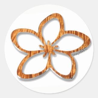 Aufkleber Koa Plumeria-(Frangipani)