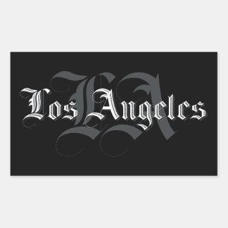Aufkleber Los Angeles Blackletters