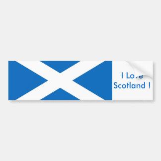 Aufkleber mit Flagge des Schottlands Autoaufkleber