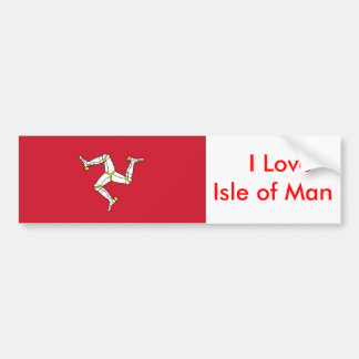 Aufkleber mit Isle of Man-Flagge Autoaufkleber