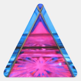Aufkleber--Murano rosa Glasdreieck Dreieckiger Aufkleber