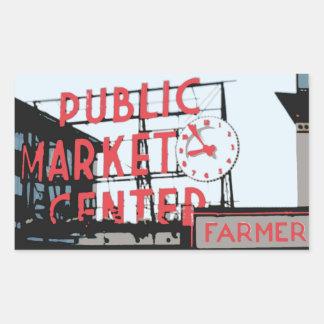 Aufkleber - Pike-Platz-Markt