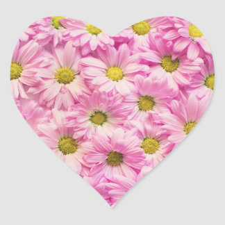 Aufkleber - rosa Gerbera-Gänseblümchen