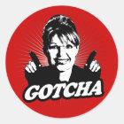 Aufkleber Sarahs Palin Gotcha