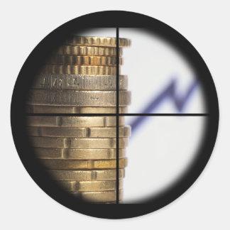 Aufkleber: Scharfschütze-Finanzwachstum Runder Aufkleber