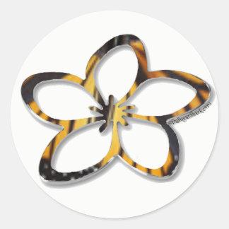 Aufkleber Schmetterlingplumeria-(Frangipani)