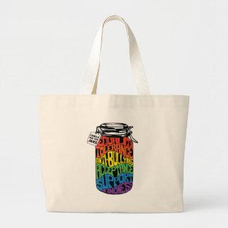 Aufkleber sind für Gleichheits-Shirt der Glas-LGBT Jumbo Stoffbeutel