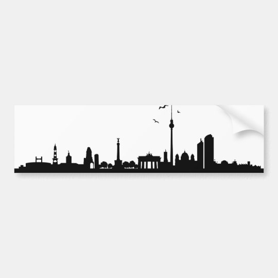 Aufkleber Skyline Berlin Autoaufkleber