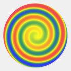 Aufkleber spiralförmig Regenbogen      (x20)