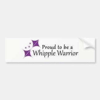Aufkleber stolz, ein Whipple Krieger zu sein Autoaufkleber