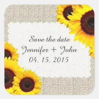 Aufkleber sunflower1 der Sonnenblume Save the Date