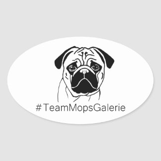 Aufkleber #TeamMopsGalerie