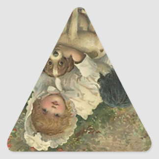 Aufkleber-Vintage viktorianische Dreieckiger Aufkleber