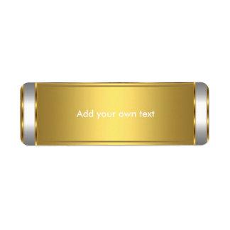Aufkleber-Weiß mit Gold Rücksendeetikett