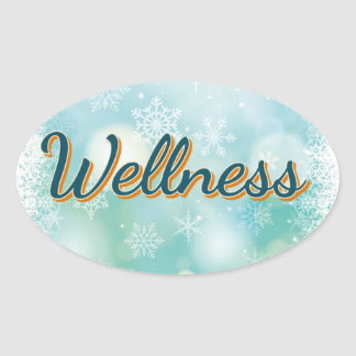 """Aufkleber """"Wellness"""" für Ihre gute Gesundheit"""