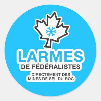 Aufkleber x20 Föderalistenlarmes Quebec