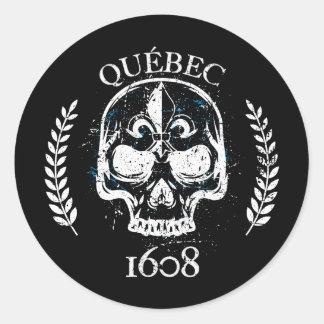 Aufkleber (x20_ Kreise Quebec biker skull/gibt an