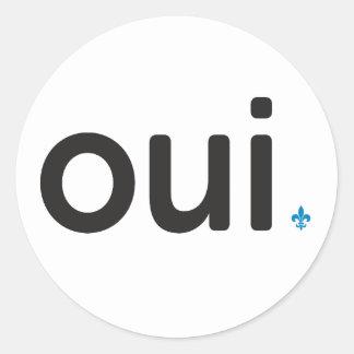 Aufkleber x20 Oui Volksabstimmung Quebec