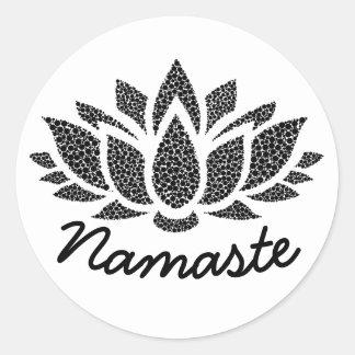 Aufkleber Yoga-Lotuss Namaste